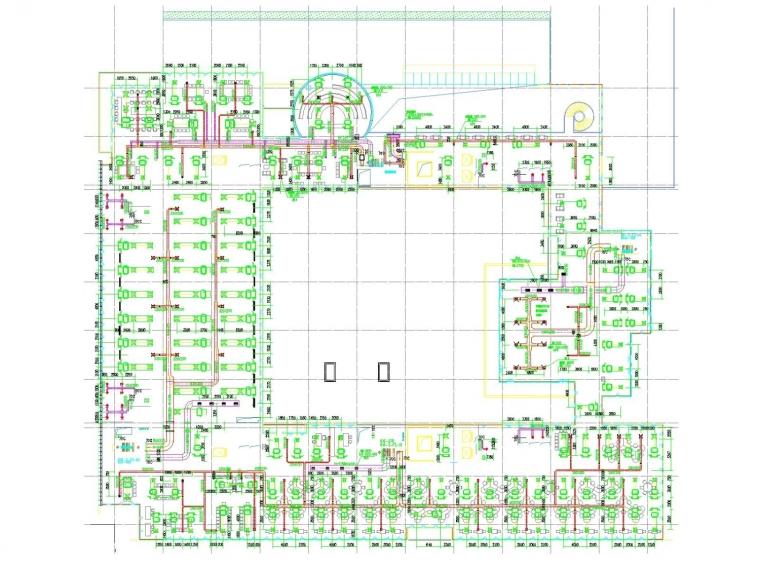 [浙江]科研综合楼空调人防通风防排烟系统(机房设计人防设计)