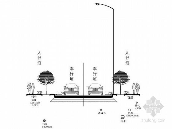 [重庆]城市道路综合管网施工图设计14张