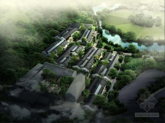 [浙江]新中式風格創意產業園辦公樓設計方案文本(倉庫改造)