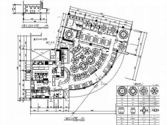 [原创]2016年9月新作现代时尚高档餐厅施工图(含效果图)
