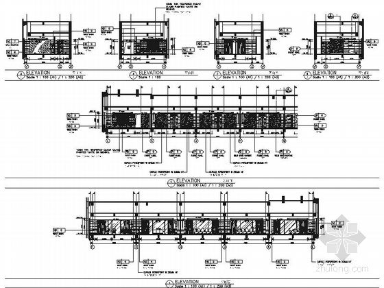 [浙江]全球国际化金融中心高档现代风格综合性酒店装修施工图(含效果)会议室商务中心立面图