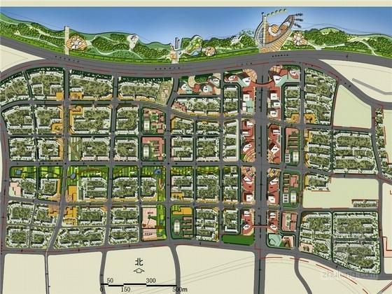 [济南]商业金融区及周边居住区滨水总体规划设计方案