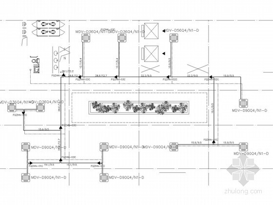 VRV全热交换器资料下载-物流中心空调系统设计施工图