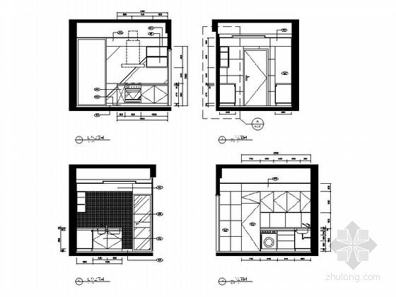 [广东]名师设计多层住宅区C型高档现代四居室装修施工图立面图