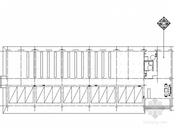 [北京]著名高档现代金融机构办公楼室内装修施工图(含方案)