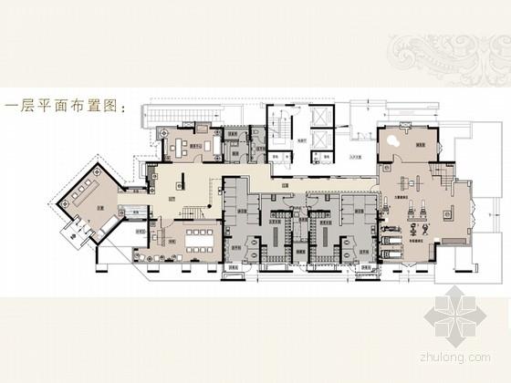 [浙江]艺术氛围浓厚的商务休闲会所软装设计方案(含效果图)