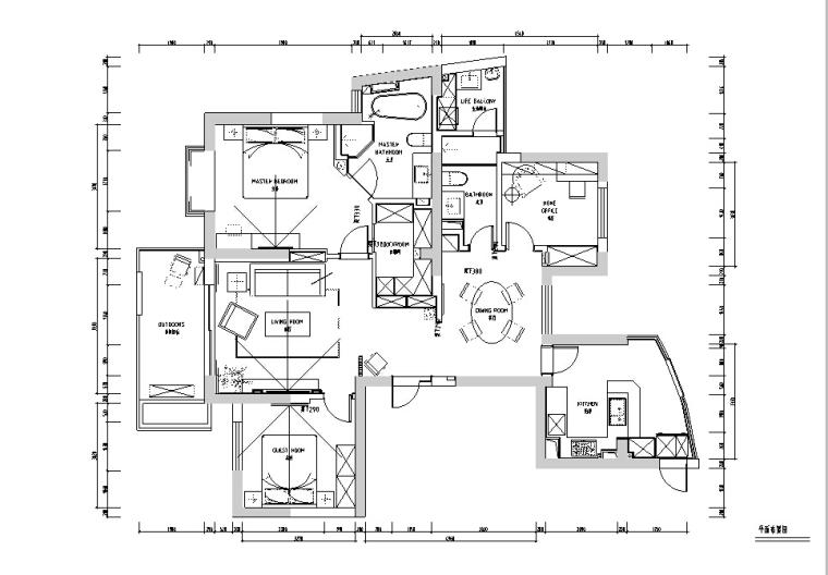 [杭州]一套相当完整规范的两居室设计施工图