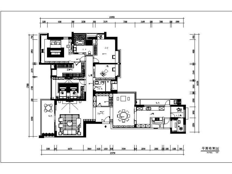 [深圳]现代简约三居室设计施工图(含效果图)
