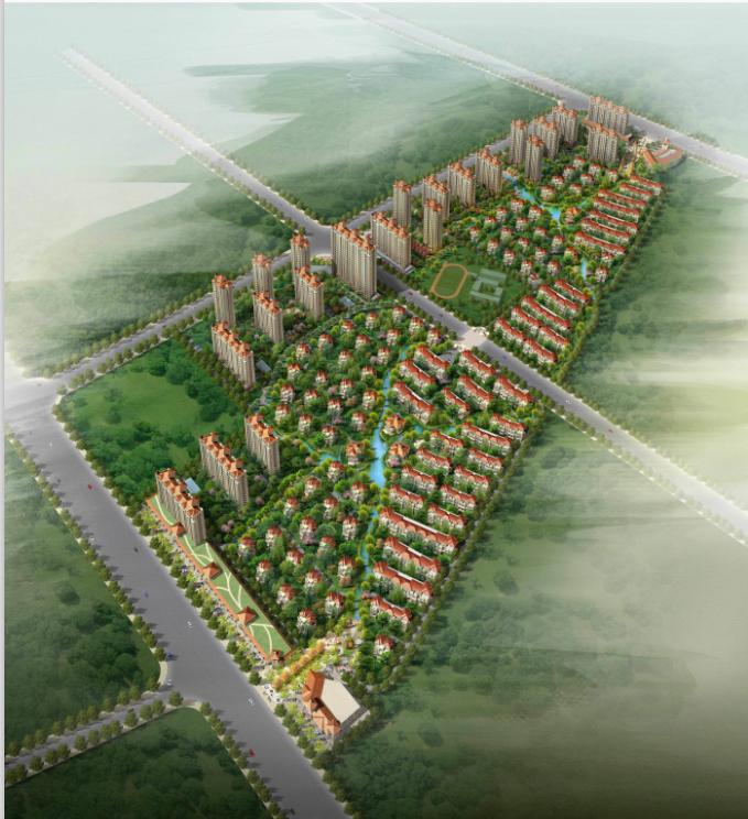 [江苏]高层高品质西班牙风情低密度住宅建筑设计方案文本