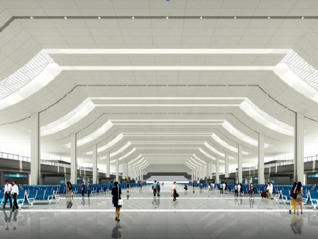 """高架候车地下出站层地铁线下穿铁路枢纽站房工程创建""""示范性精品工程""""规划188页"""