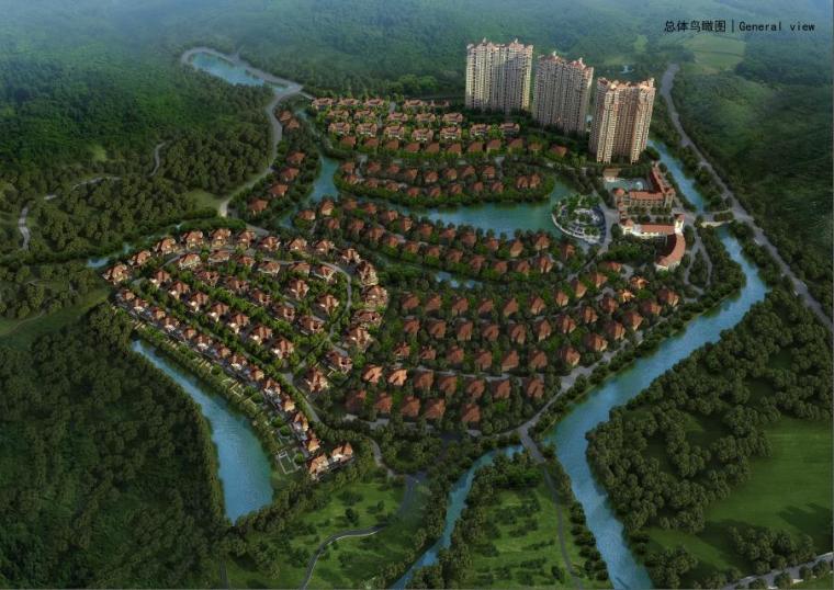 [深圳]四层新中式风格顶级生态庄园式别墅建筑设计方案文本