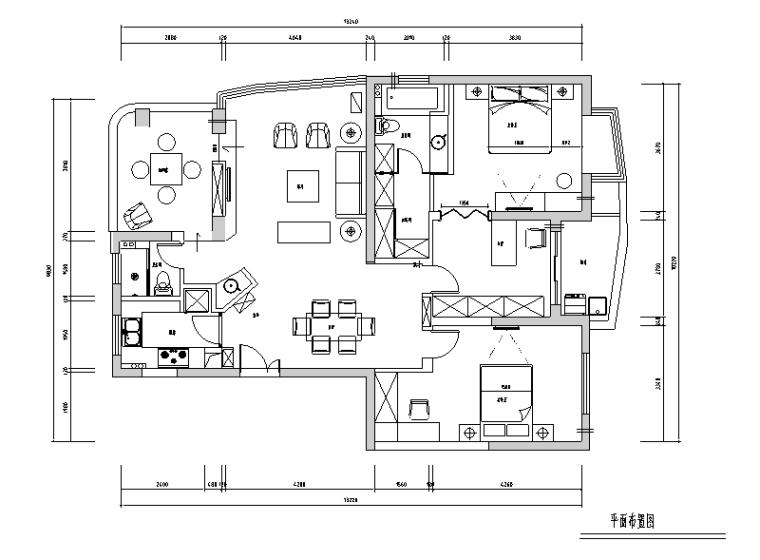 [江苏]衡泰花园洋房二居室住宅设计施工图(附实景图)