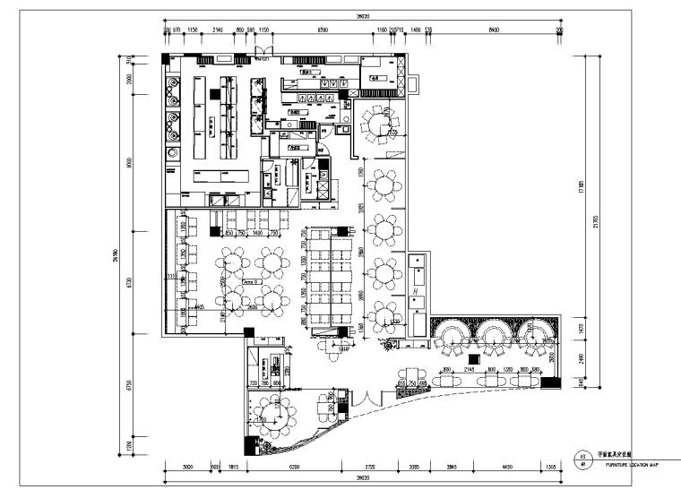 鑫客家万达店经典客家菜馆室内设计施工图(附效果图)