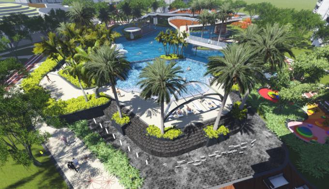 [广东]CBD核心区城市中轴生态滨水别墅区景观设计方案
