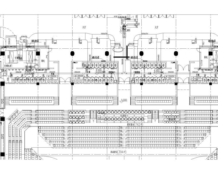 [天津]师范大学体育馆施工图(含中央空调系统、地暖系统、通风系统、防排烟系统)_2
