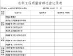 水利工程质量管理检查及检查整改记录表