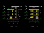 四层建筑别墅方案设计(包含CAD)