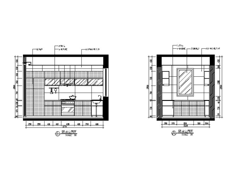 现代中式风格别墅设计CAD施工图(含效果图)_5