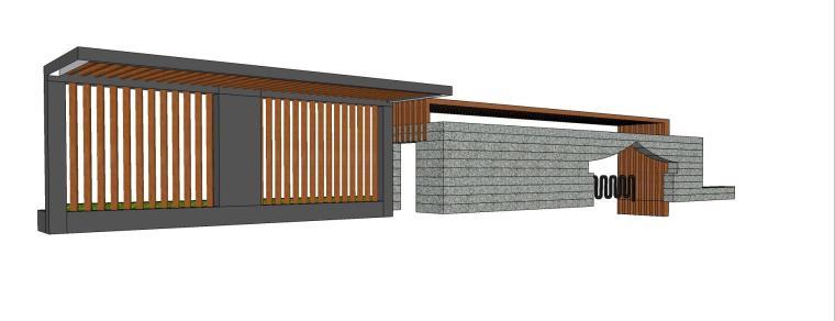 中式亭子廊架SU模型设计