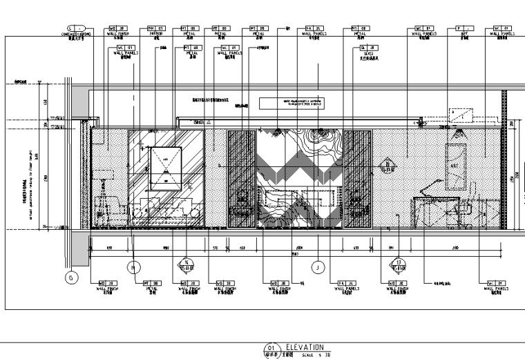 中山希尔顿酒店设计施工图(附效果图)-样板房立面图