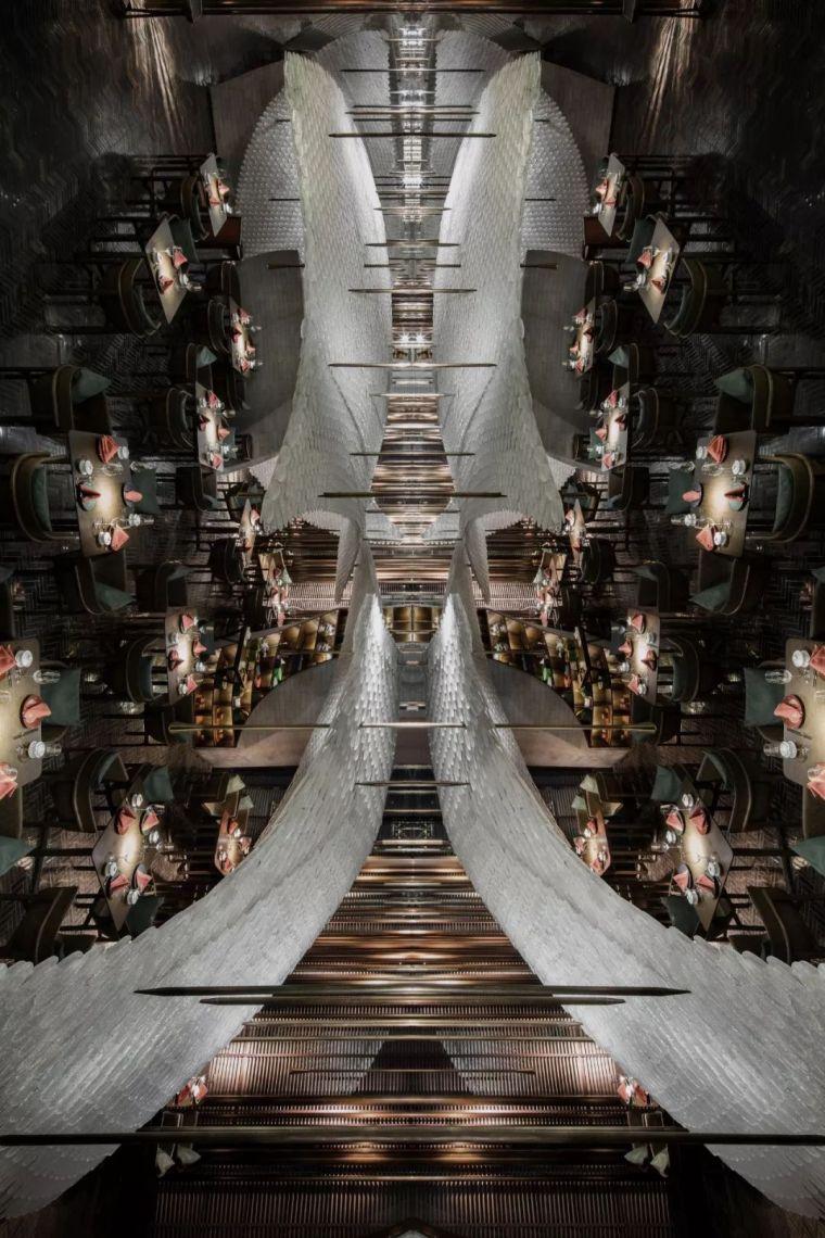 40万片琉璃鹤羽,打造主题餐厅新地标,惊艳广州!