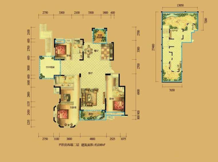 欧美风情三居室-华地紫园3室2厅2卫1厨 207.00㎡.jpg