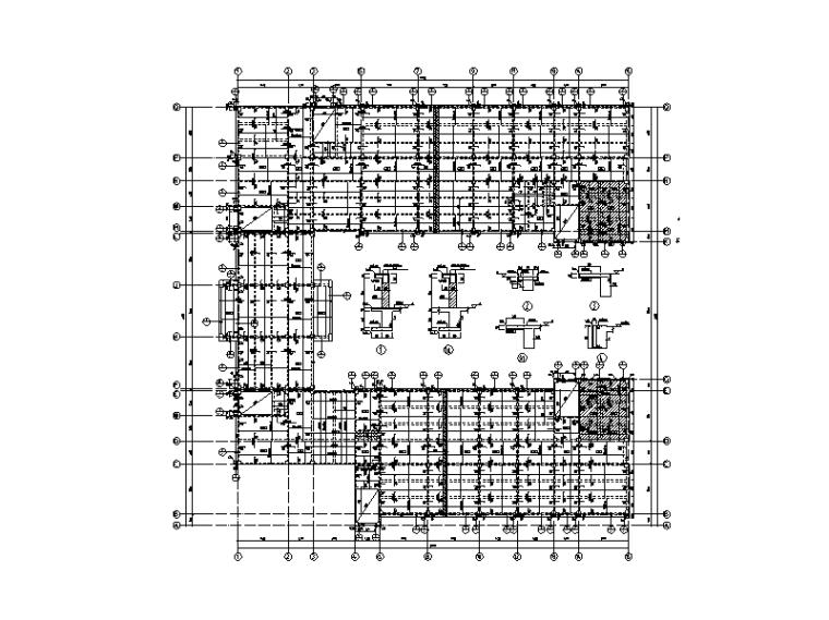 [四川]5层钢混框架结构大学教学楼建筑结构施工图(2015)