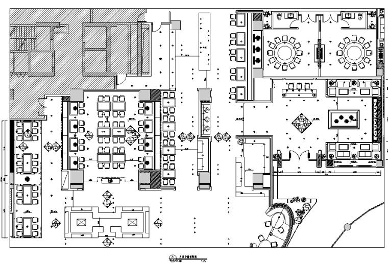 [辽宁]人山人海国际美食自助餐厅设计施工图(附效果图)