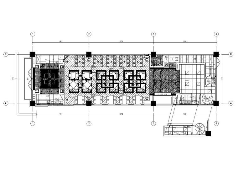 [郑州]某中餐厅内部装修改造全套施工图(附效果图)