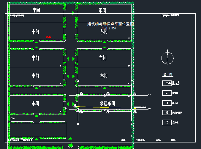 多层车间项目岩土工程勘察报告-车间平面布置图