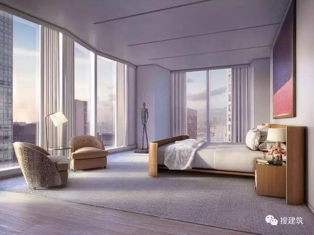 """万科200米高、61层的""""新地标住宅"""",1000-1600平方英尺的户型设_25"""