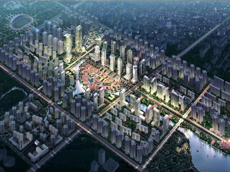[重庆]大学城中央商务区规划建筑设计方案