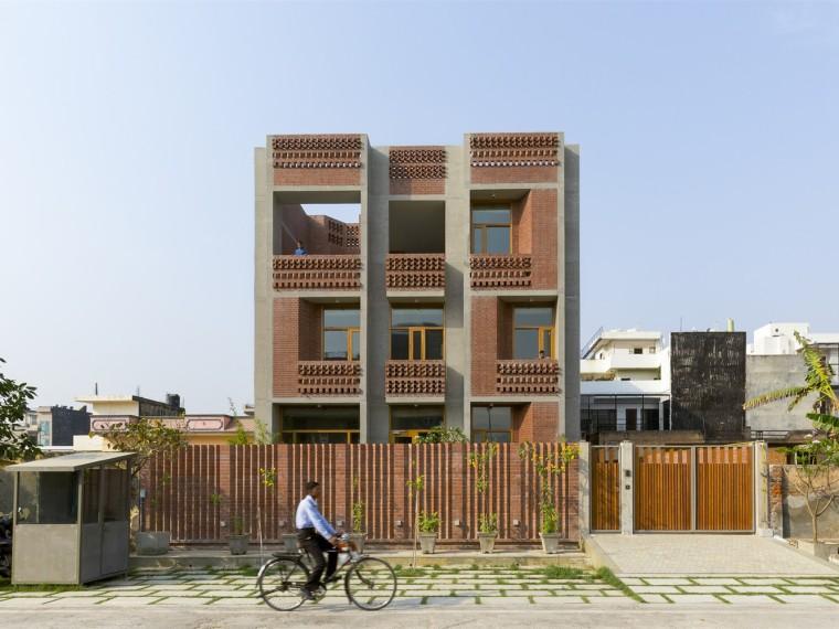 印度动感砖砌住宅