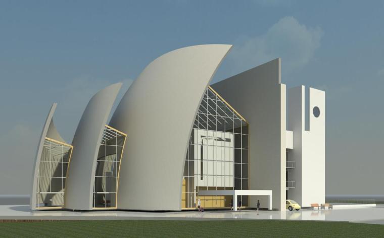 BIM模型-revit模型-千禧教堂模型