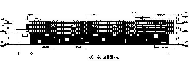 两层某小区商店建筑施工图