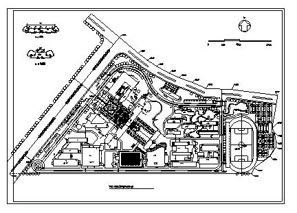 韦德国际娱乐_韦德国际线上娱乐_韦德国际足球投注_40套大学校园规划总平面图CAD方案图纸_4