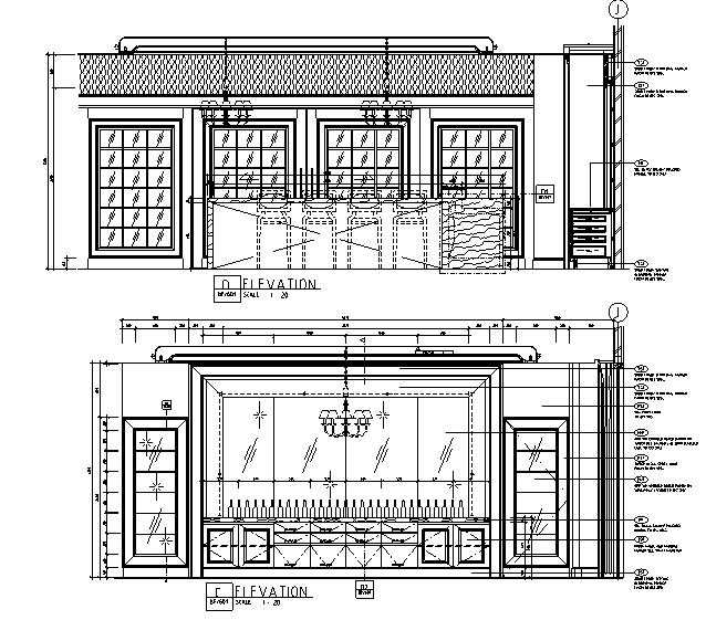 超现代法式餐厅及雪茄吧设计施工图(附效果图)_3
