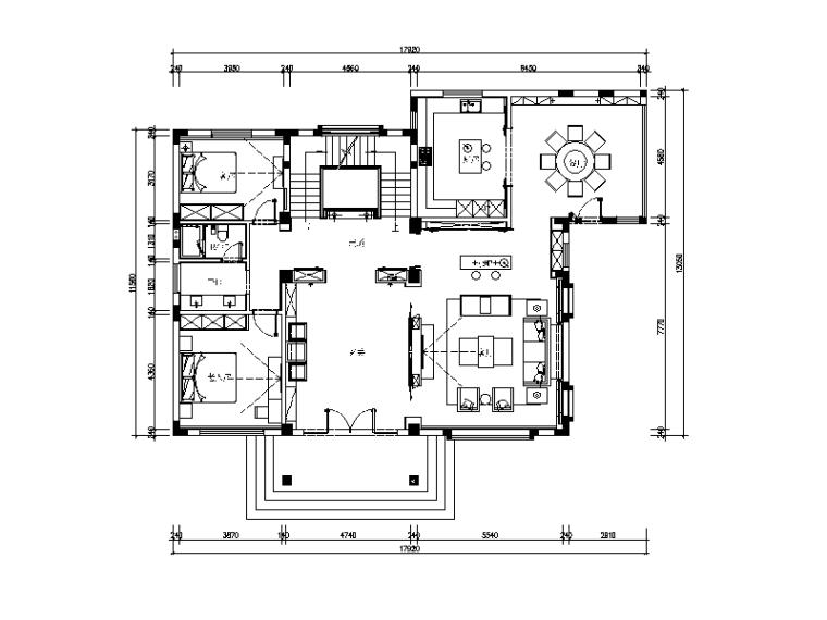新作!新中式别墅设计CAD施工图(含实景图)