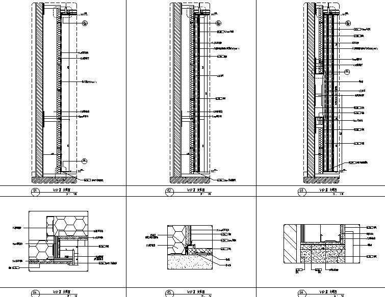 知名地产前海售楼处设计施工图(附效果图+物料清单+软装方案)-大样图