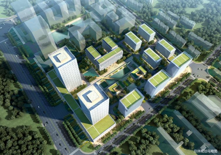 高层现代风格工业区产业园建筑设计方案文本(甲级办公楼)