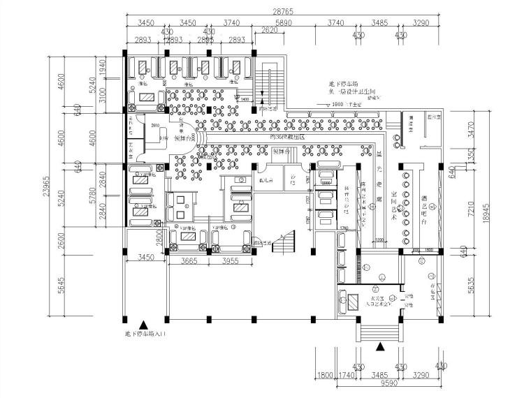 八套不同风格休闲酒吧内部装修全套CAD施工图