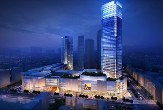 48层五星级酒店办公塔楼和8层购物中心结构图(含详细建筑图)