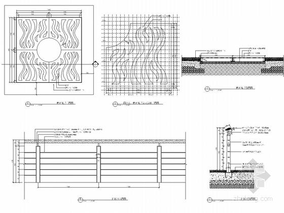 [浙江]细致典雅艺术居住区景观施工图(图纸丰富)-树池篦子栏杆详图