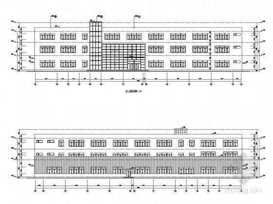 [武汉]三层框架结构及钢结构汽车灯具厂房结构图(含建筑图)