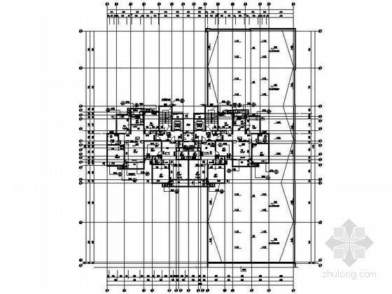 [安徽]30层现代风格住宅建筑施工图(棚户区改造)-30层现代风格住宅建筑平面图