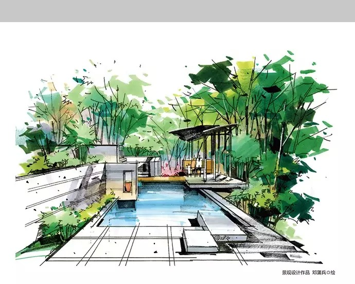 园林景观马克笔手绘-景观设计-筑龙园林景观论坛