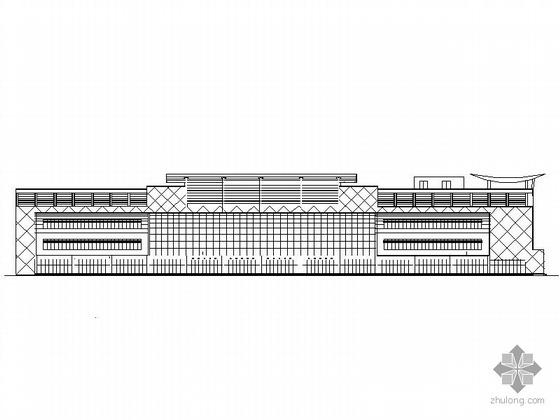 [菏泽]某四层大型超市建筑施工图