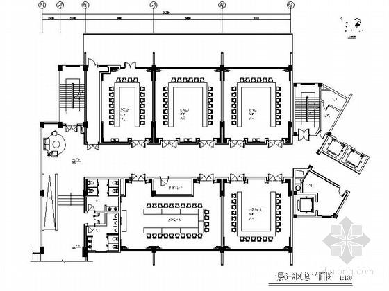[四川]灾后重建会议中心宴会会议室施工图(含效果图片)