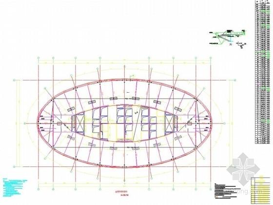 A塔五十八层结构平面