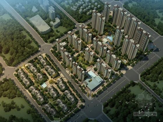[河南]市中心地块现代风格高档住宅小区规划设计方案文本
